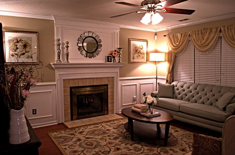 Budget Living Room Remodel, A few months back I decided to give my living room a complete makeover, something it has needed since we moved in almost seven years ago. Since we don't have alot of extra money I knew I was going to have to do some serious bargain shopping and that my husband and I were going to have to take on some challenging DIY projects that we were definitely skeptical about, but our minds were made up and we were going through with it, there was no turning back.   Three and a half months later our living room transformation was complete.I a™m pleased to announce that my husband and I successfully installed crown moulding, put up wainscot paneling and built a fireplace overmantle in our living room all for $300.00. In addition, we were able to find all of the furniture and decorative accents to furnish the entire living room for $2,931.   For $3,331 we were able to give our Living Room a Complete Makeover.   Check out the entire story, before and after pictures and a cost breakdown at http://www.myloveofstyle.com/2012/08/15/my-living-room-makeover/, My two big ticket items on my Living Room Remodel were the Mint Linen Button Tufted Sofa and Transitional Hand-Tufted Rug, Living Spaces
