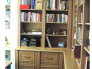 Private Library, Home office bookcase and storage unit. Unit is made of Oak and Oak veneer then finish in house for a white wash/pickled look., Home Offices Design
