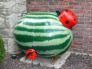 Is it really a watermelon?, I love to work in my yard and love to look at beauty, but my ugly propane tank had to have a makeover., Gardens Design