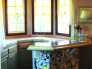 Custom Tile Bar, Scott Cohen designed and created these custom alcoholic beverage tiles for his home bar., Other Spaces Design