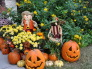 Ready for the Little Goblins!, We don't have Trick or Treat here until the actual Halloween date....I've gotten the front entryway ready for all the little visitors!  I love decorating outdoors for fall.  I'll miss the color of all the mums when they die out, won't you?!, Porches Design