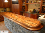Copper Basement Bar Top, Stellar color copper was used to make a basement bar., Basements Design