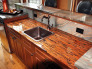 Copper Countertops, Enchantment copper countertop (lower) with copper dune granite (upper)., Kitchens Design
