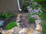From drabby dirt to beautiful rock, I have removed all the old edging plastic to nice rock..once the mulch is in itll all be comeplete !, Gardens Design