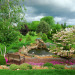 My backyard pond & waterfall, This is a pond I built by hand just to sit and enjoy the sounds of the outdoors. , This is a pond I built so we could enjoy the sounds of the outdoors. Storm was coming this day.          , Gardens Design