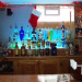 Man Cave, Custom Bar and Entertainment Center, Custom bottle rack for bar with phosphor blue fluorescent lighting, Basements Design