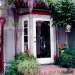 Vacation at Home, Peacefull place to entertain and hang out, Back door with trellis for wisteria, Home Exterior Design
