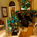 Show Me Christmas Decorating, Show Me Decorating Christmas trees, mantels, wreaths, garlands, doorways and more, Peacock themed living room, Holidays Design