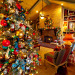 Country French Christmas, Country French Christmas by Show me Decorating, cool turquoise, rich red and gold compliment the season in this beautiful home., Country French Christmas tree, Holidays Design
