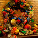 Country French Christmas, Country French Christmas by Show me Decorating, cool turquoise, rich red and gold compliment the season in this beautiful home., Fireplace wreath, Holidays Design