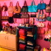 Ultra girly & femenine, pink glitter walls, dressing room, My pride & joy, my dressing room. With pink glittered walls, a DIY pink & yellow vanity (& DIY vanity stool), clothing rounder & chandelier. It's a dream come true for me :), Closets Design