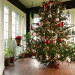 Christmas 2012, Christmas has arrived at our 1924 custom built, blonde brick, terracotta and copper roofed Italian villa-style home! Happy Holidays!, The tree in the sunroom during the day including the left side of the sunroom.    , Holidays Design