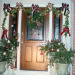 Symmetric Curb Appeal Winter Holidays, Changing entryway to reflect the wintry charm of the holiday season.,   , Home Exterior Design