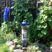 Backyard garden~, Raised beds for vegetables or cutting flowers, a Gnome Tree, flower borders and trees...., Beach Style Home~~Birdbath     , Gardens Design