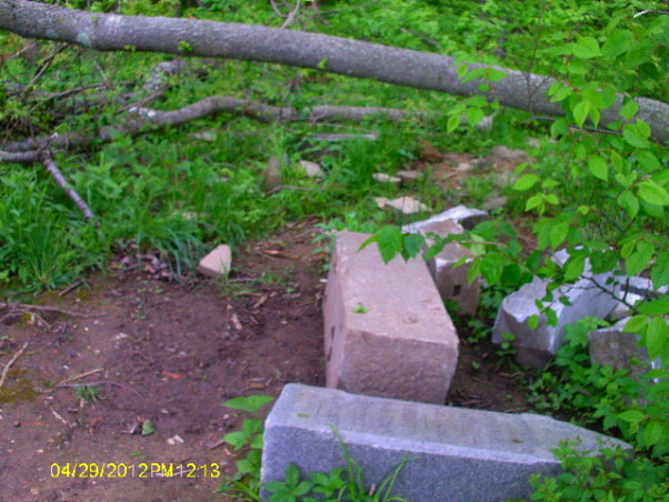Elizabeth's Grave Ohio, This was taken at the Mt. Union Cemetery, (locally famous for Elizabeth's Grave) where they have thrown all the stones in the woods.  , took these from all different angles., Haunted Places
