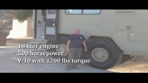 Man RV, Kurt H.'s RV is an ex-missile carrier for the US Air Force., Kurt says he's been able to go places no one else could go with his RV., Your Mega RVs