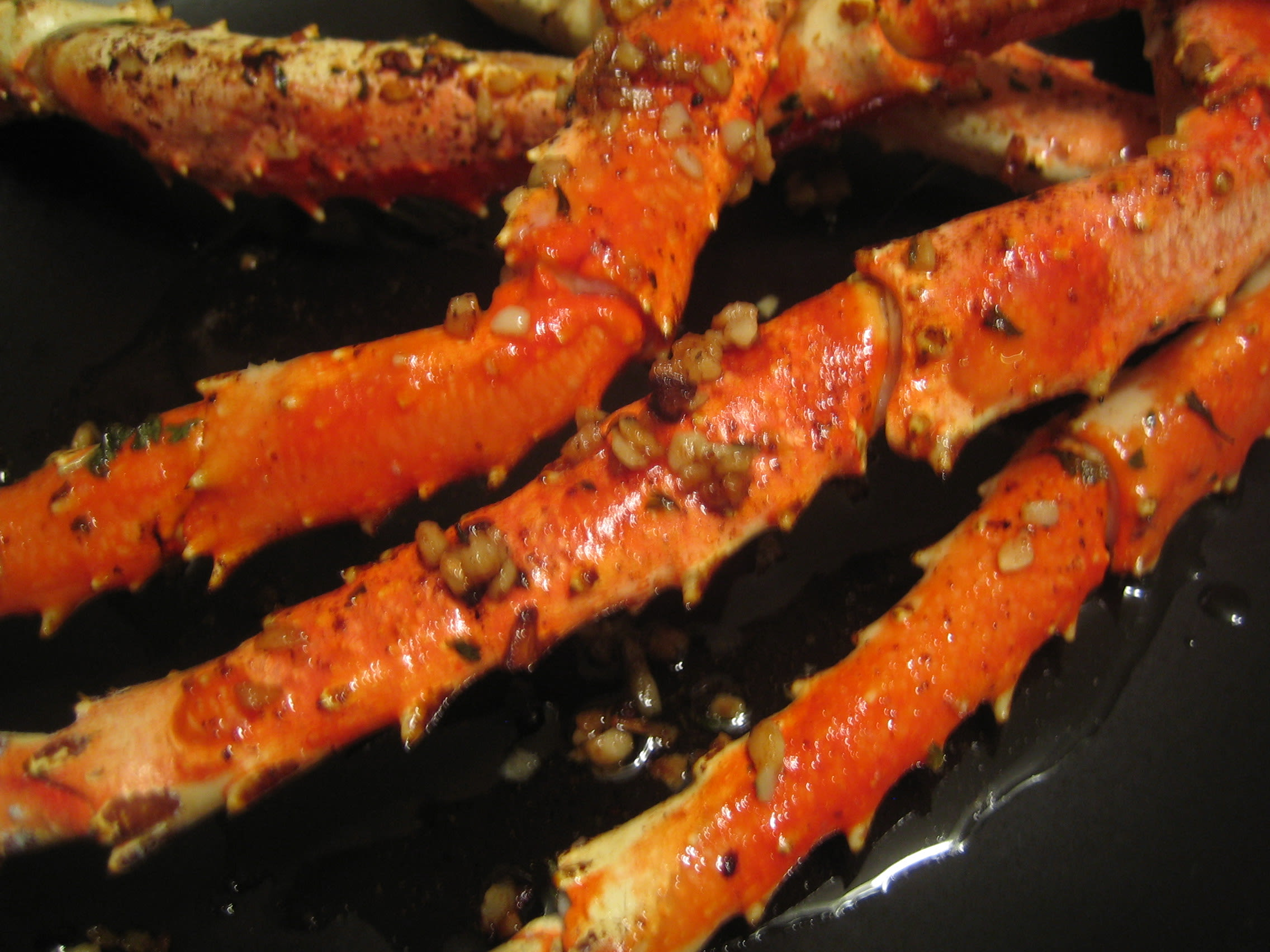Crabs Garlic Butter Baked Crab Legs Recipe Genius Kitchen
