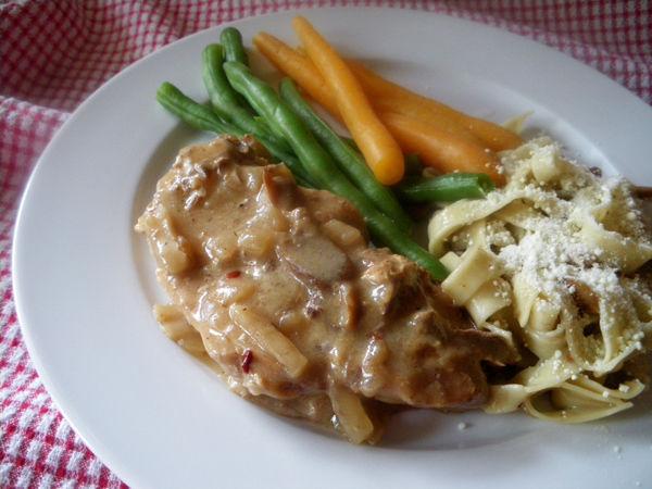 Crock Pot Pork Chops And Mushrooms Recipe Genius Kitchen