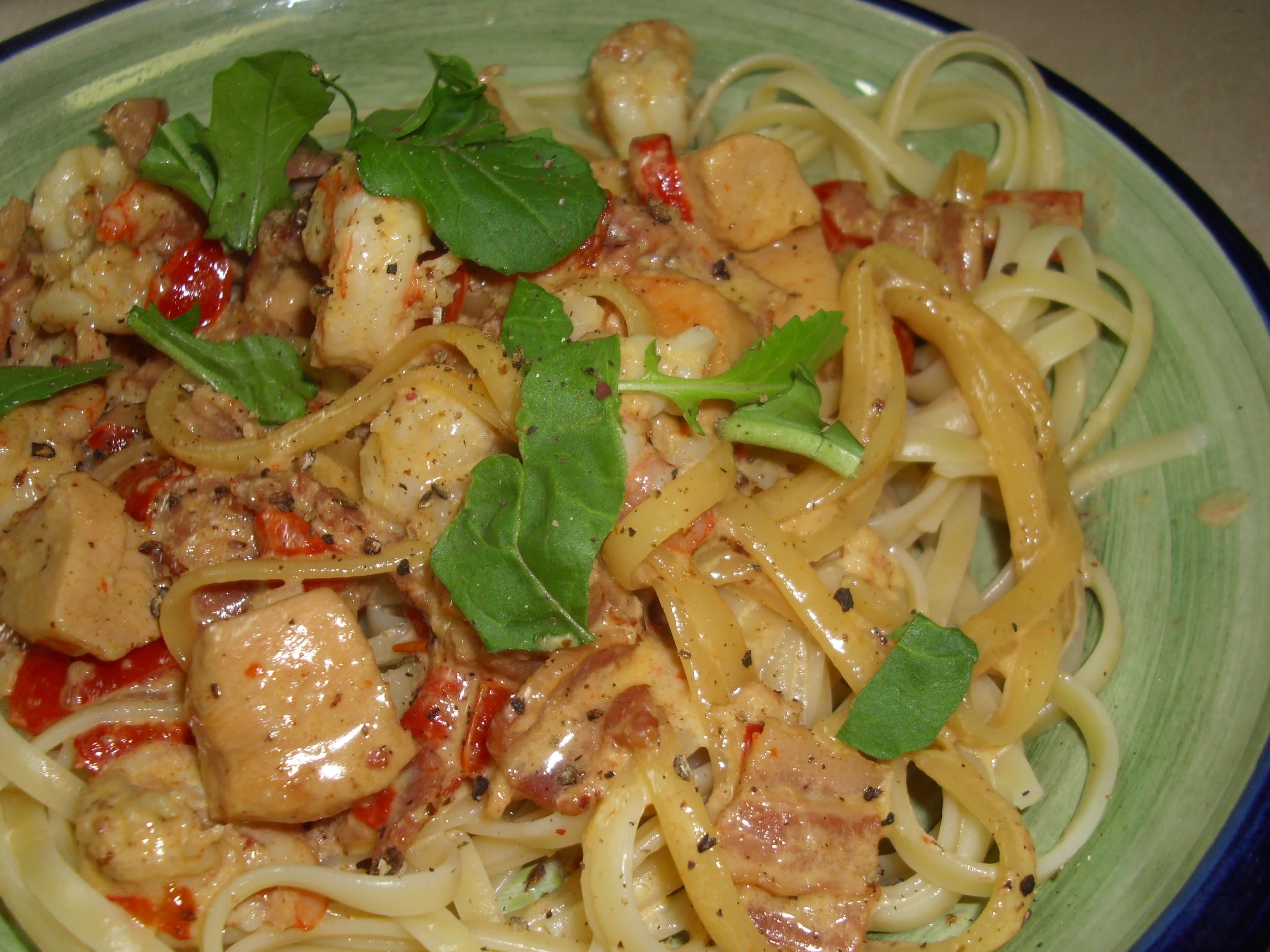 Olive Garden Chicken And Shrimp Carbonara Recipe - Genius Kitchen