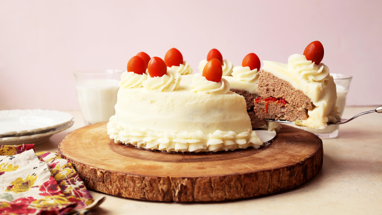 April Fools Day Meatloaf Cake Recipe Genius Kitchen