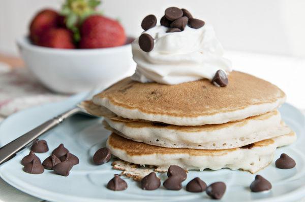 Chocolate chip pancakes recipe genius kitchen ccuart Choice Image
