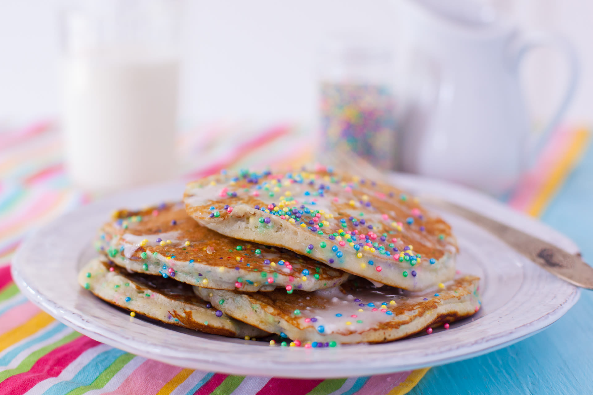 Cake Batter Pancakes Recipe Genius Kitchen