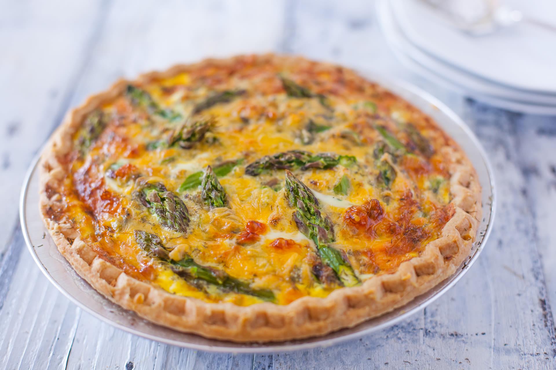 Asparagus cheddar quiche recipe genius kitchen forumfinder Images