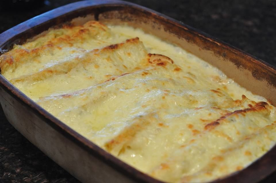 White Chicken Enchiladas Recipe Genius Kitchen