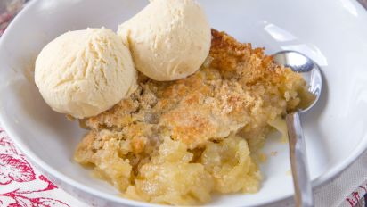 Homemade apple cobbler with pie filling