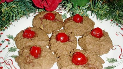 Chocolate Cherry Drop Cookies
