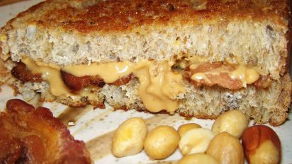 Grilled Peanut Butter And Bacon Sandwich Recipe Food Com
