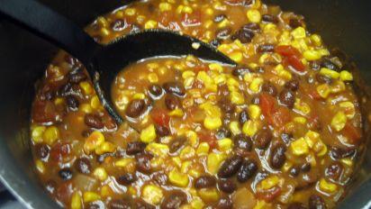 Roasted Corn And Black Bean Chili Recipe Food Com