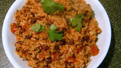 Mexican Tomato Rice And Beans Recipe Low Cholesterol Food Com