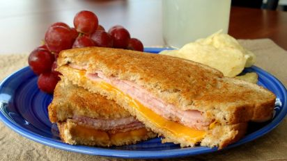 Grilled Ham Cheese Sandwich Recipe Food Com
