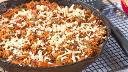 Hamburger Rice Skillet Recipe Food Com
