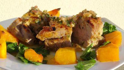 Grilled Pork Tenderloin A La Rodriguez With Guava Glaze