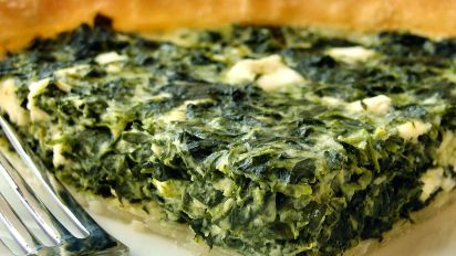 Greek Spinach Quiche Recipe Greek Food Com
