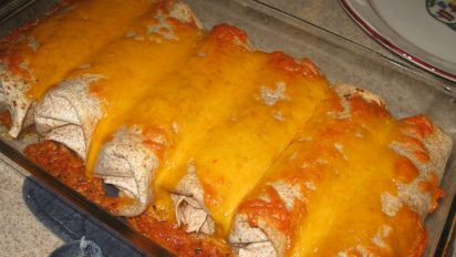 Easy Cheesy Ground Beef Enchiladas Recipe Food Com