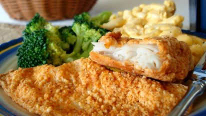 How do you cook breaded fish fillets