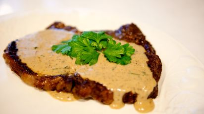 Aussie Pepper Steak Steak With Creamy Pepper Sauce Recipe Food Com