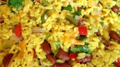 Mexican Yellow Rice And Black Beans Recipe Food Com