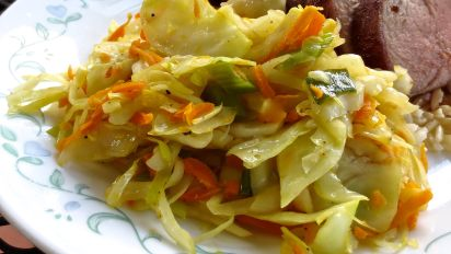 Quick Cabbage Stir Fry Asian Style Recipe Food Com