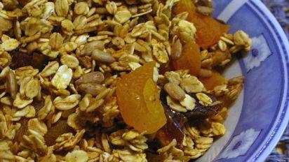 Baked Homemade Granola Lower Fat Recipe Food Com