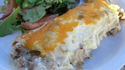 Sour Cream Beef Enchiladas Recipe Mexican Food Com