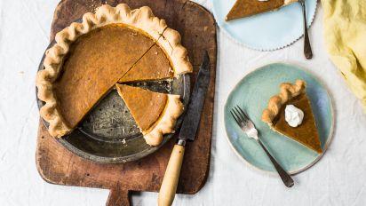 Pumpkin Pie Using Milk And Fresh Pumpkin Recipe Food Com