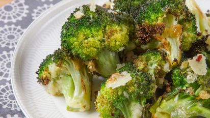 How To Roast Broccoli Oven Roasted Broccoli Recipe Food Com