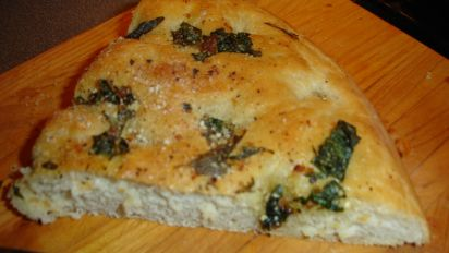 Focaccia Bread With Three Topping Choices Recipe Food Com