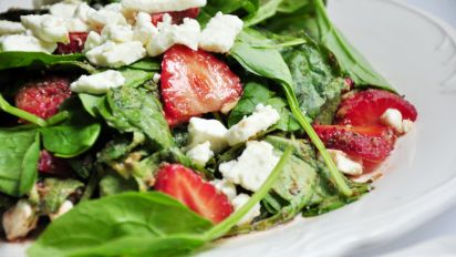 Delicious Easy Spinach And Strawberry Salad With Feta Recipe Food Com