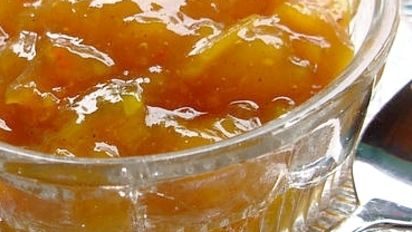 Golden Saffron Pear Chutney Recipe Healthy Food Com