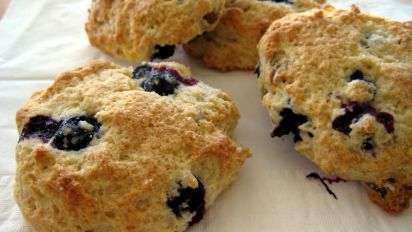 Low Fat Blueberry Scones Using Heart Healthy Bisquick Mix